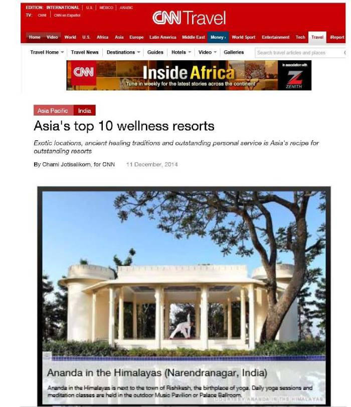 CNN clipping Top wellness resorts Chami J.2