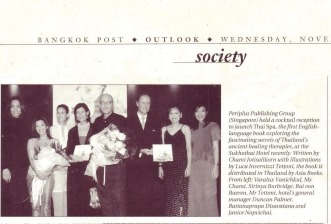 18.The Bangkok Post newspaper, Society, Spa book launch Nov02