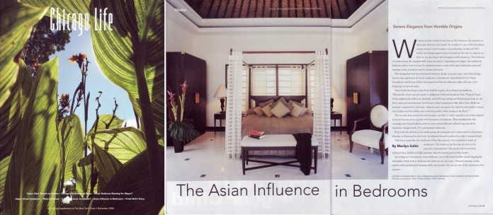 2. Asian Homes books, Chicago Life Magazine, USA