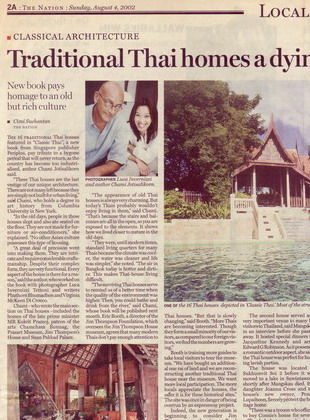 20. Thai Artchitecture & Interiors book launch, The Nation newspaper, Thailand