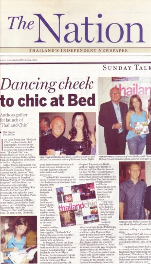 5. Thailand Chic book launch,The Nation newspaepr, Thailand