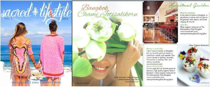 Sacred Lifestyle mag press clipping Aug 2014